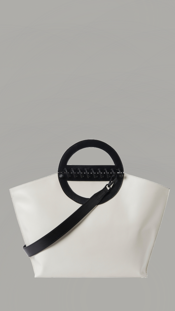 Large Leather Tote - Noble - Offwhite