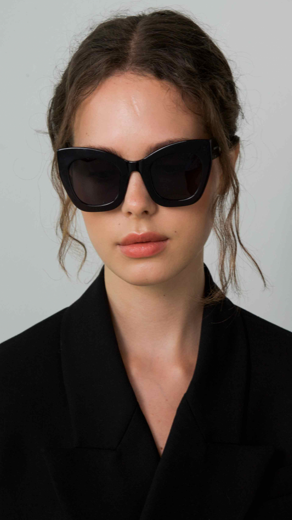 Ambitious Black Frame + Grey Lenses