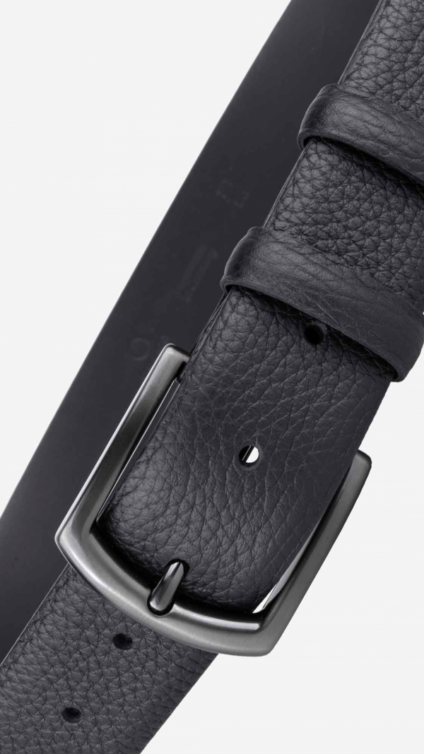 Classic Pebble Belt Black - Laurent