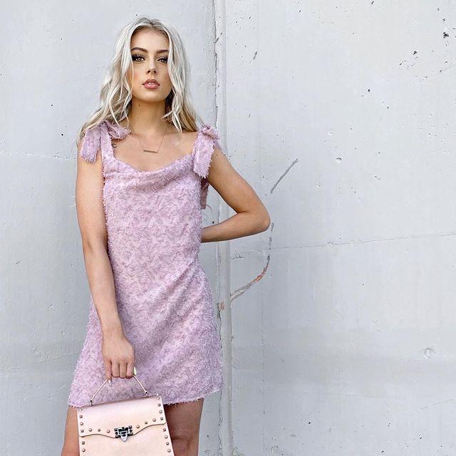 Blush Ostrich Dress