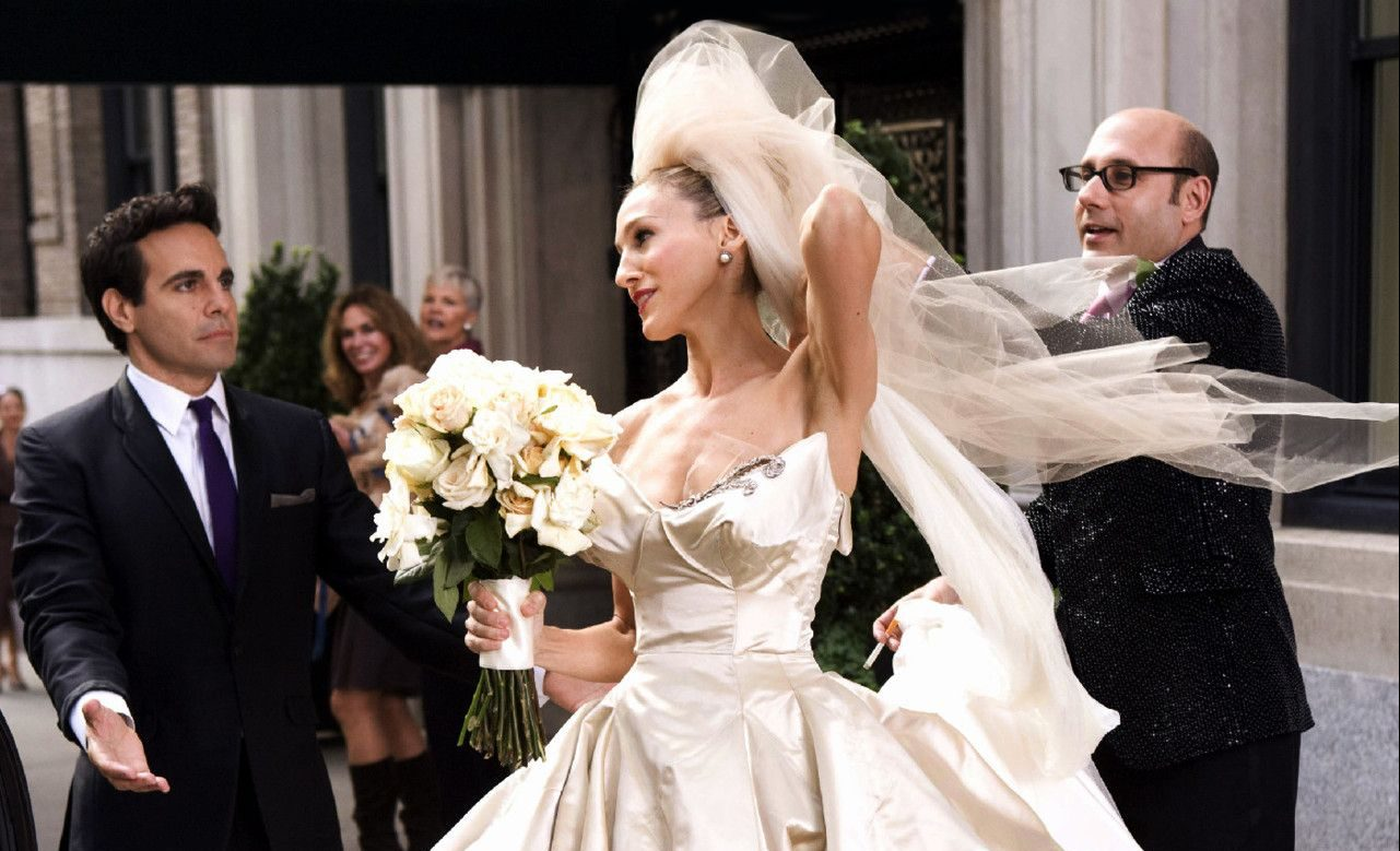 Wedding of Carrie and Mr. Big in the Sex and the City