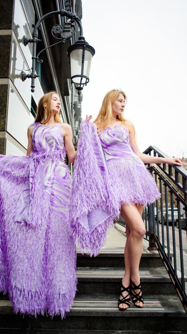 Romantic Violet Dress 5097