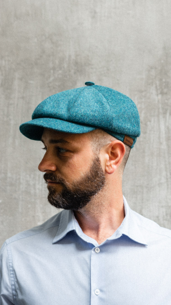 Borrdoo Newsboy Cap Cashmere Turquoise