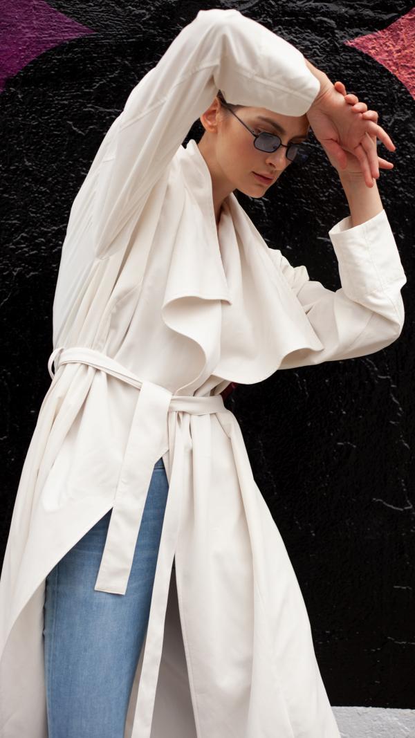Exode Trench Coat - White