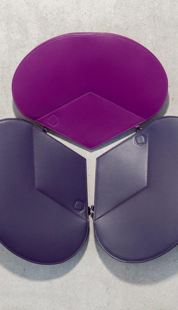 Leather Handbag Purple The Drop