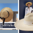 A Beautiful Woman Wearing White Suit and Summer Hat