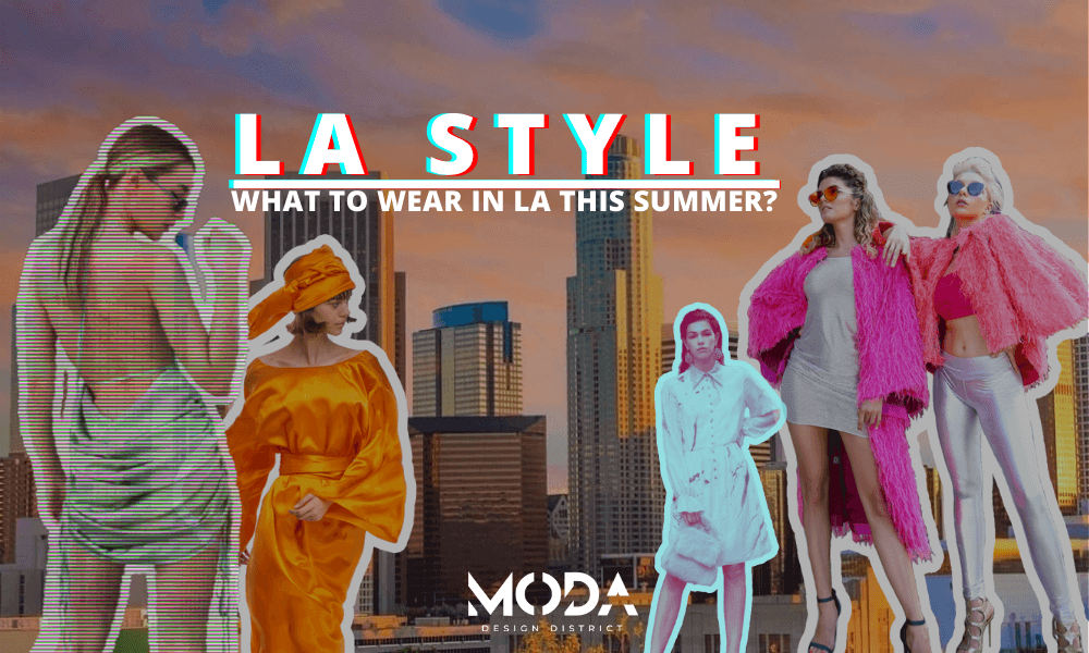 Los Angeles Skyline and Fashionable Girls