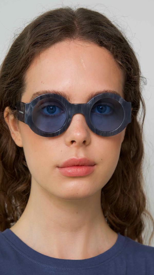Spontaneous Grey Frame + Blue Lenses