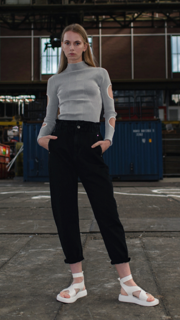 Knitted Top With Cutouts