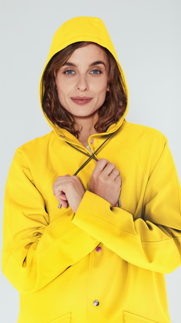 Unisex Yellow City Raincoat