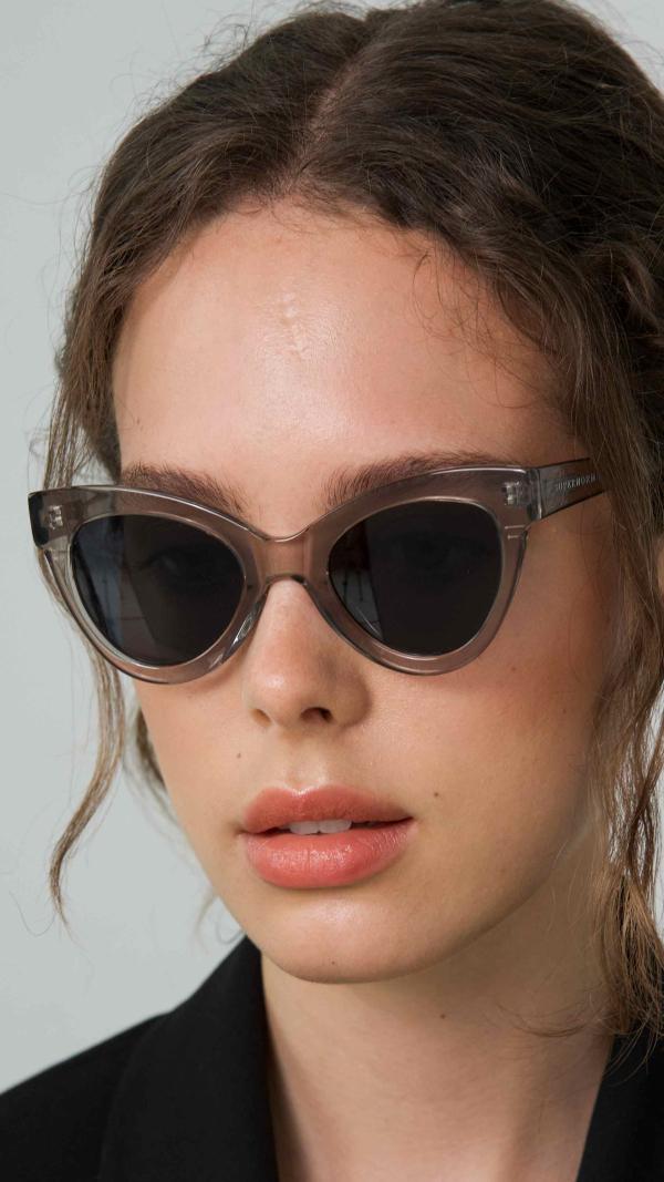 Magnetic Transparent Frame + Grey Lenses