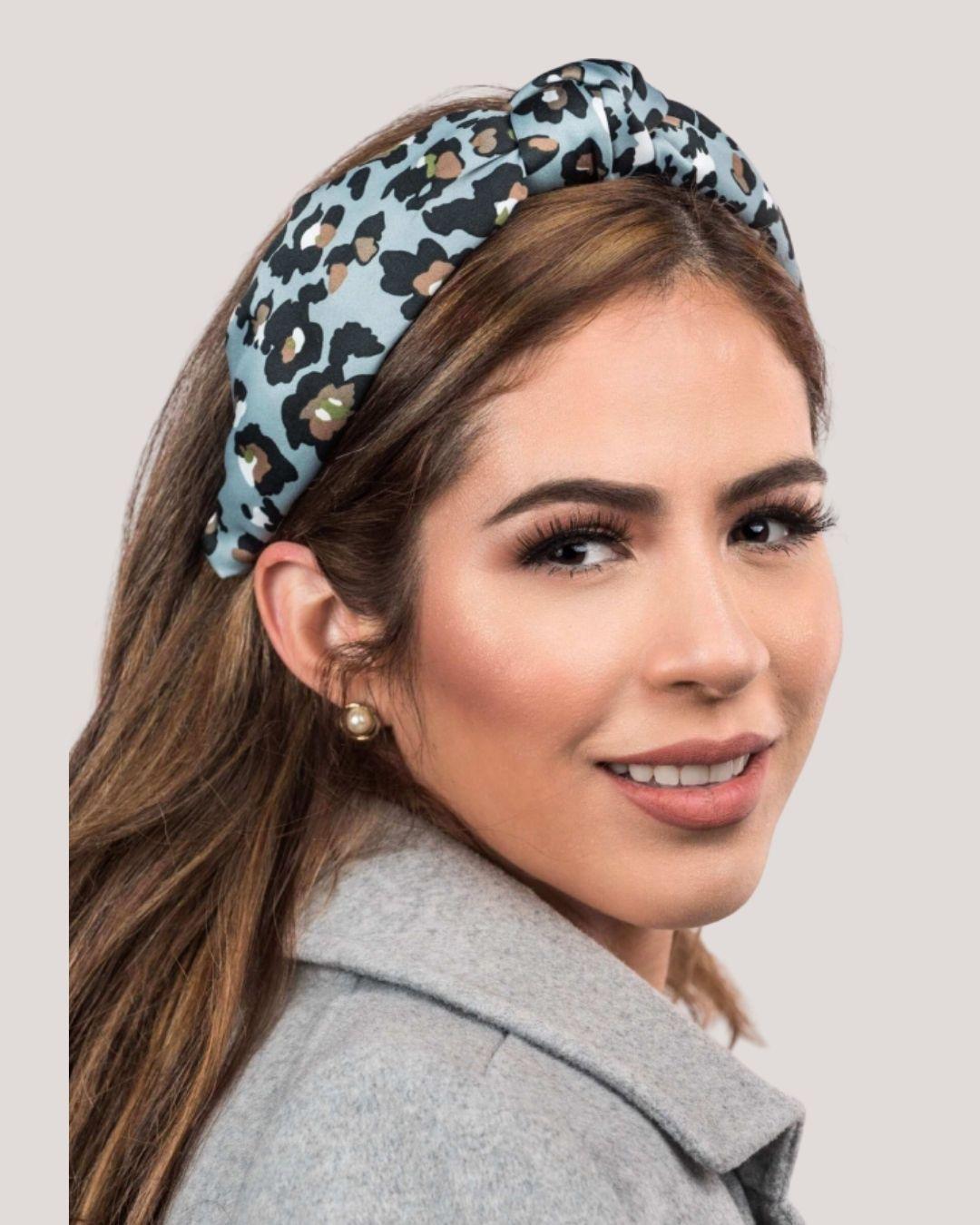 Print Headband (Black & Blue)